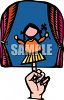Finger Puppet on a Stage clipart