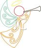 Angel Blowing a Horn clipart