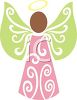 Dark Skinned Angel clipart