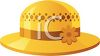 Straw Sun Hat with a Daisy clipart