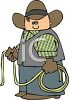 Cartoon Cowboy Holding a Lariat clipart