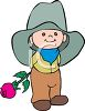 Cartoon of a Little Cowboy clipart