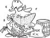 Cartoon of a Chuck Wagon Cook clipart