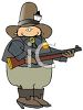 Western Sheriff Holding a Rifle clipart
