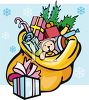 Santa's Bag of Toys clipart