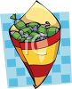 Paper Cone of Hard Candies clipart