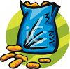 Bag of Cheese Snacks clipart
