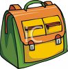 Backpack with Zippered Pockets clipart