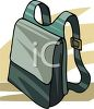 Satchel with Straps clipart