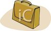 File Folder Briefcase clipart