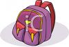 Backpack with Pockets on the Front clipart