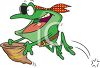 Cartoon of a Pirate Frog clipart
