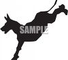 Silhouette of a Donkey Kicking clipart