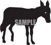 Silhouette of a Donkey clipart