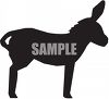Silhouette of a Mule with His Ears Perked Up clipart