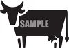 Silhouette of a Bull in Black and White clipart