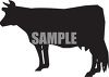 Silhouette of a Cow clipart