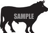 Silhouette of a Bull  clipart