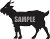Silhouette of a Billy Goat clipart