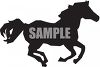 Silhouette of a Running Horse clipart