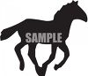 Silhouette of a Running Colt clipart
