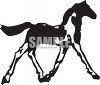 Silhouette of a Filly Icon clipart