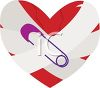 Broken Heart Mended with Tape and a Safety Pin clipart
