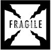 Black and White Fragile Sign clipart
