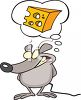 Mouse Daydreaming About Cheese clipart