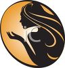 Icon of a Woman with Long Hair clipart