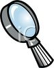 Cartoon Magnifying Glass clipart