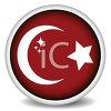 Glossy Button for the Flag of Turkey clipart