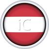 Glossy Button for the Flag of Latvia clipart