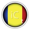 Glossy Button for the Flag of Romania clipart