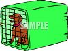 Small Dog in His Crate clipart