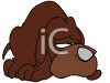 Cartoon of a Dog with a Sad Face clipart