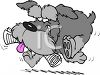 Cartoon Shaggy Dog Bringing in the Newspaper clipart