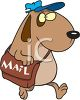 Cartoon Dog Postal Carrier clipart