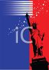 Patriotic Background of the Statue of Liberty clipart