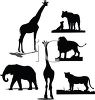 Collection of Wild Animal Silhouettes clipart