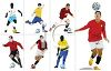 Collection of Soccer Players clipart