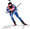 Downhill Skier clipart