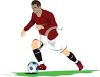 European Soccer Player clipart