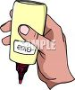 Hand Holding a Bottle of Glue clipart