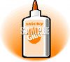 Bottle of White Glue clipart
