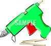 Arts and Crafts Glue Gun clipart