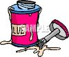 Jar of Rubber Cement Glue clipart
