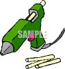 Glue Gun with Glue Sticks clipart