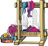 Industrial Weaving Loom clipart