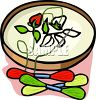Floral Pattern on an Embroidery Hoop clipart